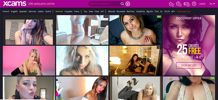 xcams homepage